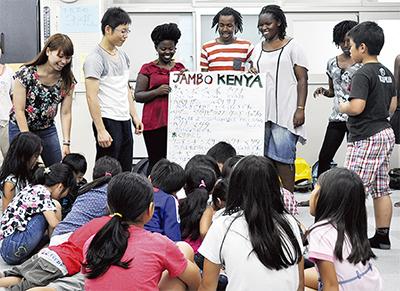 ケニアの学生と交流