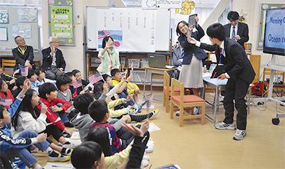 米児童とTV会議