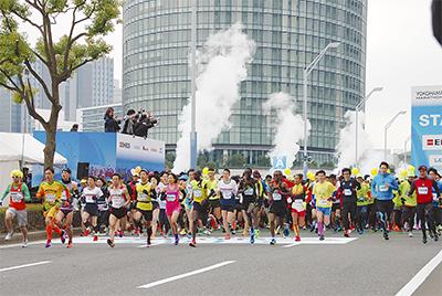 2万3千人 横浜を疾走