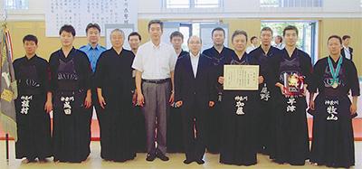 県警剣道大会で優勝