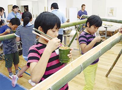 世代間交流に「竹」活用