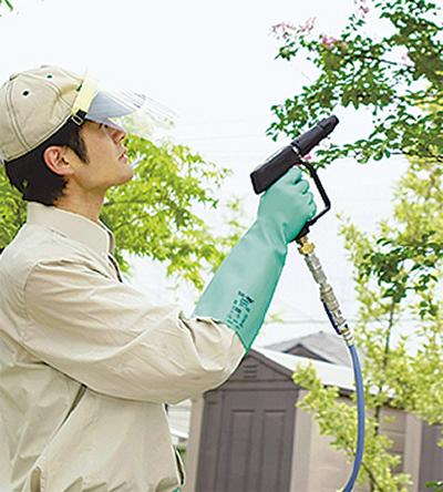 庭木の病害虫予防はダスキン