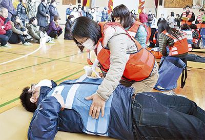 医療救護隊、災害活動を実践