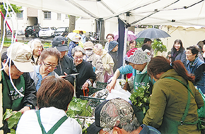 農業ボラと野菜直売会