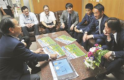 横浜FC選手が区長訪問