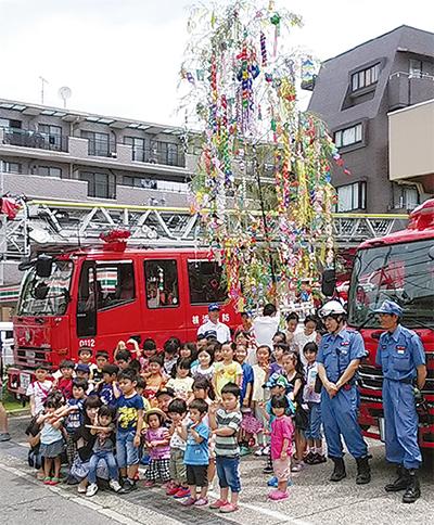 七夕にあわせ防災企画
