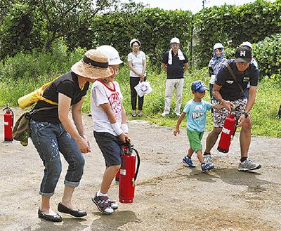 旭ヶ丘で初の防災訓練