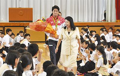 柔道・羽賀選手が凱旋