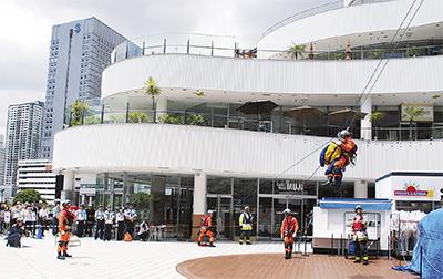 横浜BQで防災訓練