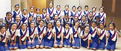 神橋小金管クラブ、地域で演奏