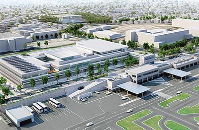 新庁舎開業後のイメージ図