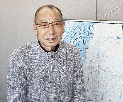 青果市場の発展に取り組む平林理事長