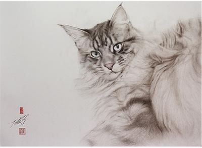 「猫の絵描き」高橋行雄展