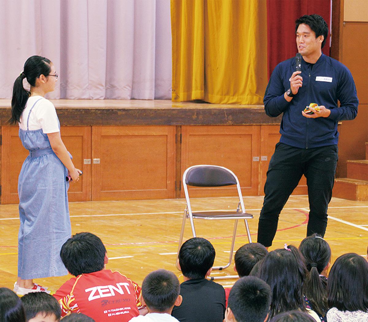 柔道・羽賀選手が母校訪問
