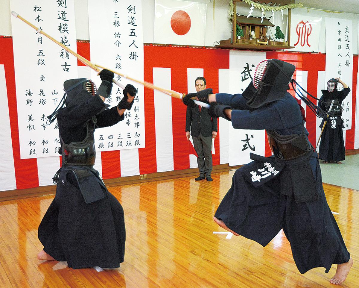 神奈川署で武道始式