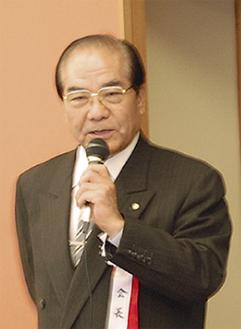 今年の抱負を語る小泉会長