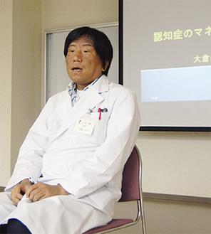 地域のケアマネに講義を行った高橋正彦医師
