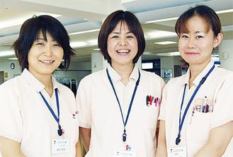 「ブランクがあっても現場で教えてもらえるので大丈夫」と鈴木真美さん。看護師の中には30年のブランクを経て仕事を始めた人も