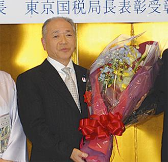 受彰した持田和夫さん