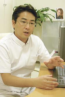 「正しい歯並びが成長には大切」と倉島院長