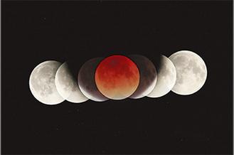 市内で撮影した月食=川崎天文同好会提供