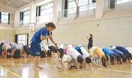 放課後に運動指導