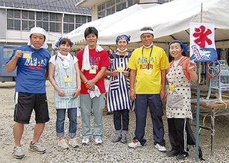 2011年7月、南三陸町志津川高校にて