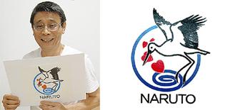 重田さん(左)と制作したロゴマーク