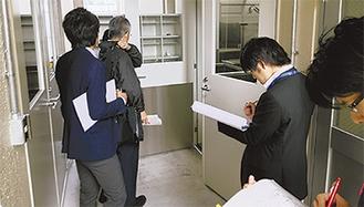 先月31日、給食室の立ち入り検査が行われた