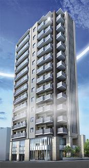 駅前の丘にそびえるエリア最高階層レジデンス。高級感溢れる外観は街の新たなシンボルに