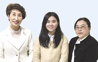 左から田ノ倉塾長、鈴木水悠さん、お母様