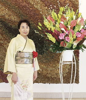 表彰式に臨む小野瀬さん