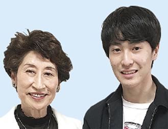 須山さん(右)と田ノ倉塾長