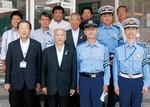 持田会長(前列左から2番目)と関係者ら