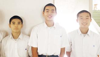 左から沼倉選手、山田選手、林選手