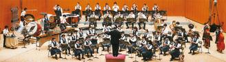 東関東コンクールで演奏する野川中吹奏楽部