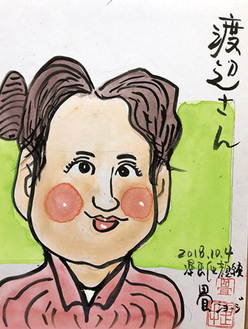 畳ショージさんが描いた渡邉理事長