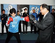 黒田選手、世界王座誓う