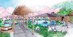 遊園跡地の温浴施設のイメージ