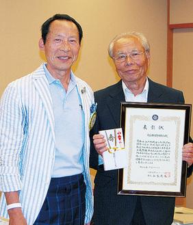 山家会長(左)と小金井副会長