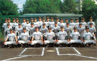 3年生を中心とした川崎北高野球部