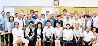 高橋区長(前列左から4人目)を招いた第40回