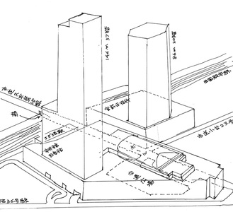環境影響方法書から市民団体が作成したイメージ図