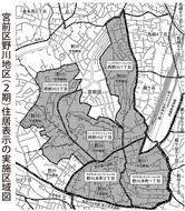 15日から 野川に新町名