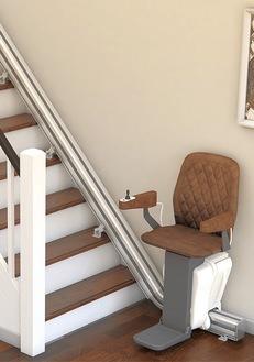 最新技術で曲がり階段にも設置可能