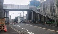 新陸橋、8月完成へ