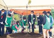 夢見ヶ崎で植樹祭