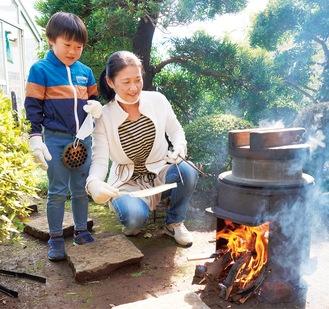炊き立ての「おこげつき栗ご飯」