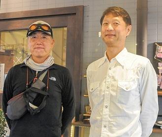 齋藤さん(右)とシャボン玉オヤジ