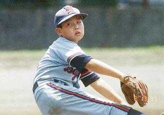 小学生当時の雄平選手=高井明さん提供